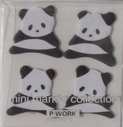 Kawaii - mini sticky notes pandabeertjes